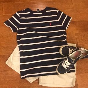 Ralph Lauren Size L Navy striped top